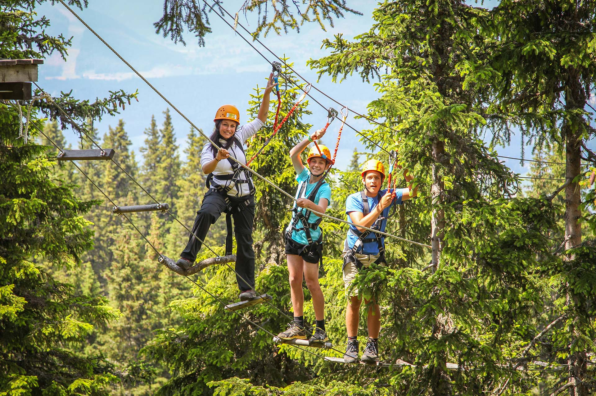 High ropes course, fun for the whole family